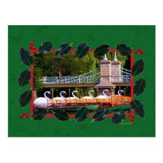 Boston Swan Boats- Boston Public Garden Postcard