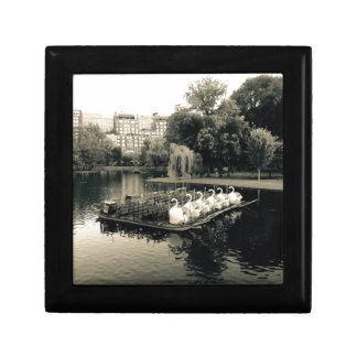Boston Swan Boats In Black and White Jewelry Box