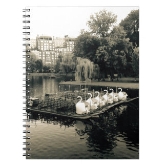 Boston Swan Boats In Black and White Notebook