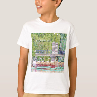 Boston Swan Boats in Pencil and Ink Filter T-Shirt