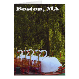 Boston Swan Boats - Summer Card