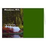 Boston Swan Boats - Summer Greeting Card