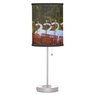Boston Swan Boats table lamp
