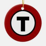 Boston T - Navidad T de O Adorno Navideño Redondo De Cerámica