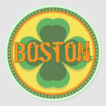 Boston T-shirts and Gifts Round Stickers