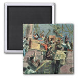 Boston Tea Party, 16th December 1773 2 Inch Square Magnet