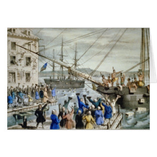 Boston Tea Party Card, Nathaniel Card