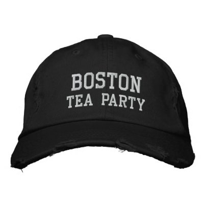 BOSTON, TEA PARTY EMBROIDERED BASEBALL CAPS