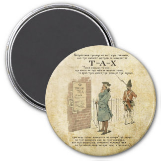 Boston tea Party Independence Day 3 Inch Round Magnet