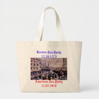 Boston Tea Party Large Tote Bag