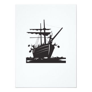 Boston Tea Party Raiders Retro Card