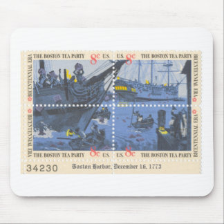 boston tea party stamp pad mouse pad