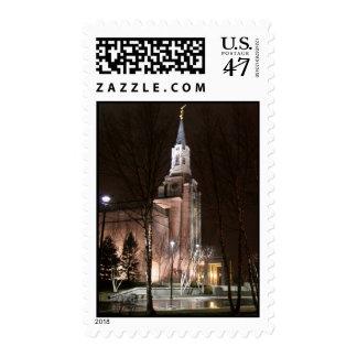Boston Temple postage stamp