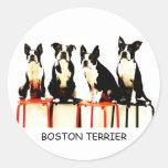 BOSTON TERRIER 丸形シールステッカー