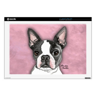 "Boston Terrier 17"" Laptop Skins"