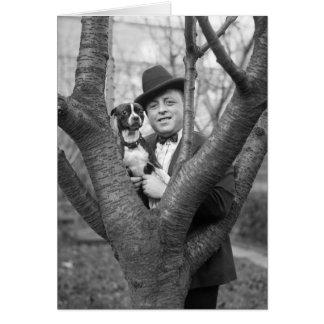 Boston Terrier, 1920s Card