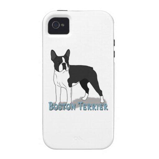 Boston Terrier 2 Case-Mate iPhone 4 Funda