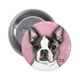 Boston Terrier 2 Inch Round Button