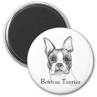 Boston Terrier 2 Inch Round Magnet
