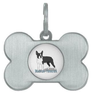 Boston Terrier 2 Pet ID Tags
