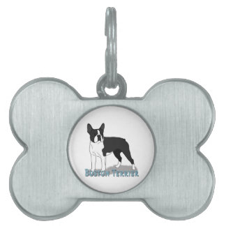 Boston Terrier 2 Placa De Nombre De Mascota