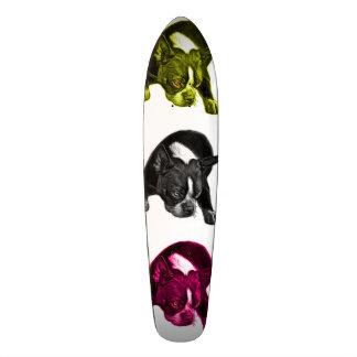 boston terrier 8384 dog pop art wb skateboard