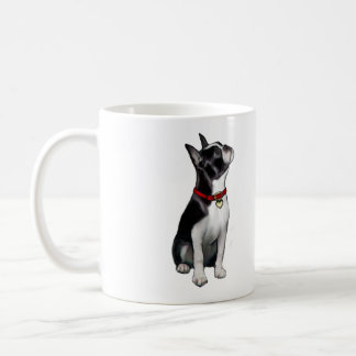 Boston Terrier (A) - looking up Coffee Mug
