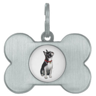 Boston Terrier (A) - looking up Pet Tag