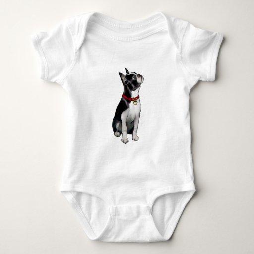 Boston Terrier (a) - mirando para arriba Mameluco De Bebé