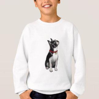 Boston Terrier (a) - mirando para arriba Sudadera