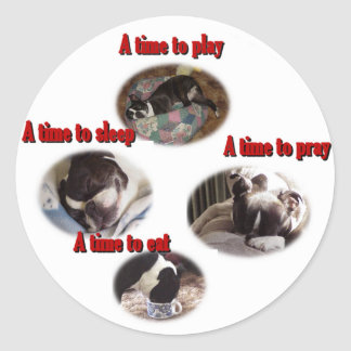 Boston Terrier:  A Time Classic Round Sticker
