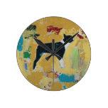 Boston Terrier Abstract Art Wall Clock