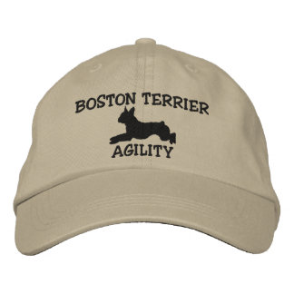Boston Terrier Agility Embroidered Hat