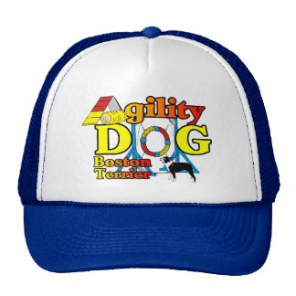 Boston Terrier Agility Gifts Mesh Hats