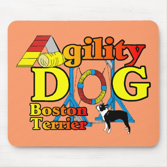 Boston Terrier Agility Gifts Mouse Pad