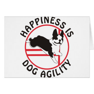 Boston Terrier Agility Happiness Card