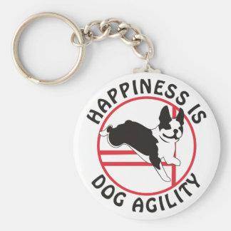 Boston Terrier Agility Happiness Keychain