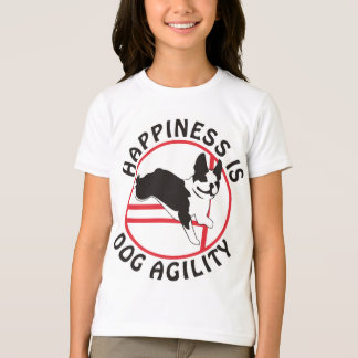 Boston Terrier Agility Happiness T-Shirt