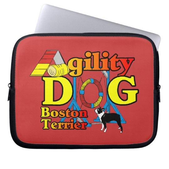 Boston Terrier Agility Laptop Sleeve