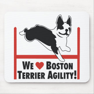 Boston Terrier Agility Mouse Pad