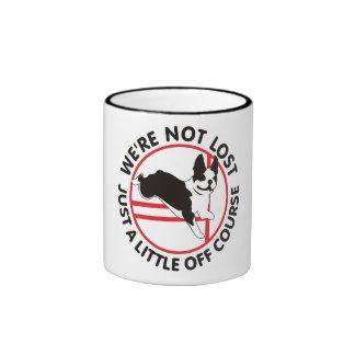Boston Terrier Agility Off Course Coffee Mugs