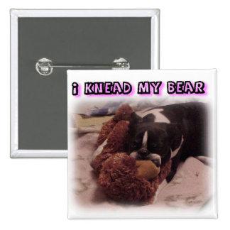 Boston Terrier:  Amaso mi oso Pins