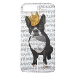 Boston Terrier And Crown iPhone 8 Plus/7 Plus Case
