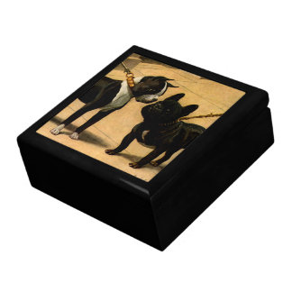Boston Terrier and French Bulldog Jewelry Box