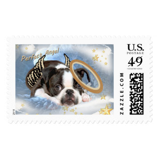 "Boston Terrier ""Angel"" Postage"