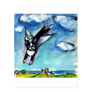 Boston Terrier angel Post Card