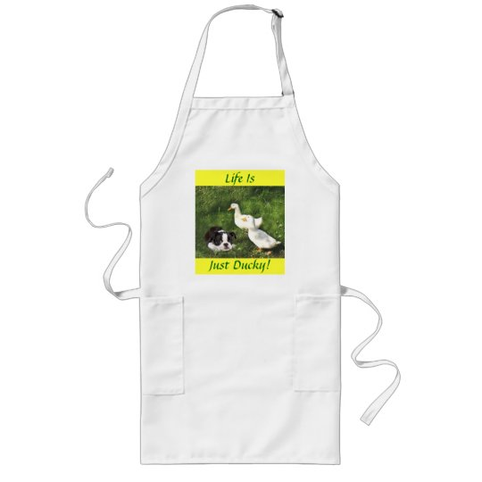 Boston Terrier Apron Ducks