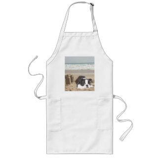 Boston Terrier Apron Sandcastles