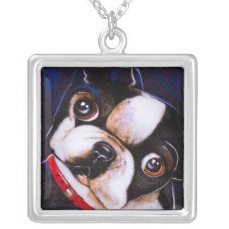 Boston Terrier Art Print Necklace Jewelry
