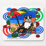 Boston Terrier at the Beach Mousepads